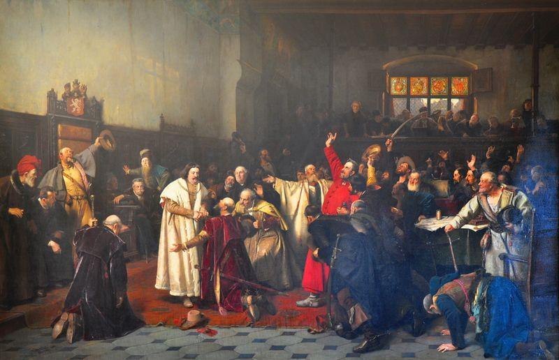 Jorge de Podiebrad, elegido en 1458 como rey checo, fuente: W.Rebel, public domain