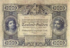 Billete de mil florines o guldens