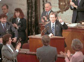 Vaclav Havel, USA 1990, photo: CTK