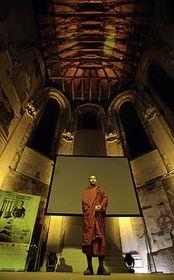 Burmese monk prays during the opening ceremony of One World 09, photo: CTK