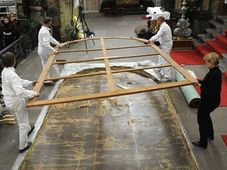 Příprava stěhování obrazu Karla Škréty z Týnského chrámu, foto: ČTK