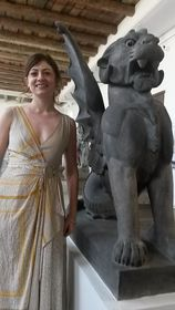 Rachel Corbett in the Lapidarium of the Czech National Museum, photo: David Vaughan