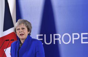 La primera ministra británica Theresa May, foto: ČTK/AP/Geert Vanden Wijngaert