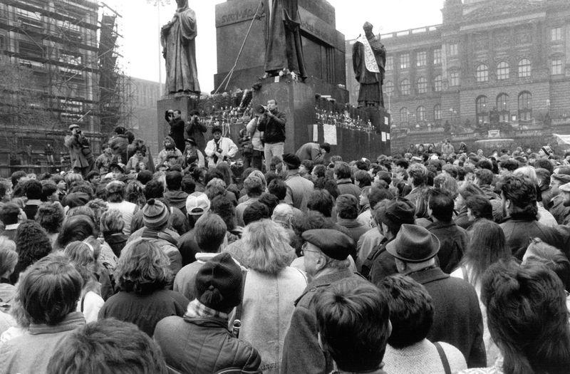 1989 en Praga, foto: archivo del señor Růžička