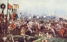 Los husitas, pintura de Luděk Marold