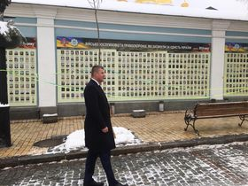 Tomáš Petříček na Ukrajině, foto: Kateřina Ayzpurvit
