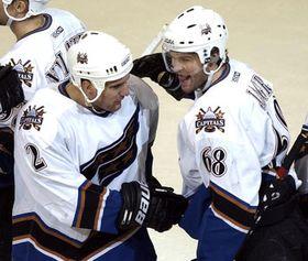 Jaromir Jagr - à droite, photo: CTK