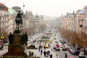 Wenceslas Square today, photo: Štěpánka Budková