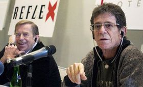 Vaclav Havel and Lou Reed, photo: CTK