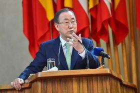 Ban Ki-Moon en la República Checa, foto: ČTK