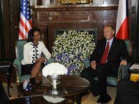 Condoleezza Rice et Mirek Topolánek, photo: CTK