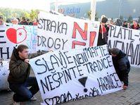 Los hinchas del Slavia, foto: ČTK