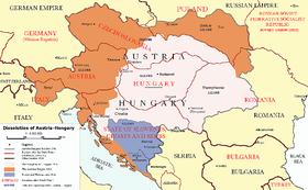 Das Ende Österreich-Ungarns nach den Pariser Vorortverträgen (Autor: AlphaCentauri, Creative Commons 3.0)