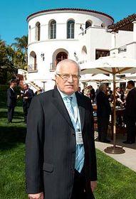 Václav Klaus à Santa Barbara, photo: CTK