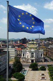 Флаг Евросоюза в городе Усти над Лабем (Фото: ЧТК)