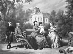 Император Франц Иосиф с супругой и детьми. Открытый источник