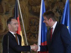 Heiko Maas und Tomáš Petříček (Foto: ČTK / Ondřej Deml)