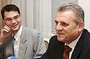 František Příplata ajeho obhájce Stanislav Polčák (vlevo), foto: ČTK