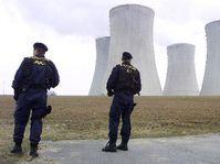 Bezpečnostní opatření u jaderné elektrárny Dukovany, foto: ČTK