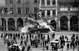 La intervención realizada en la plaza principal de la ciudad de Liberec, foto: Václav Toužimský, Archivo de Centros Checos