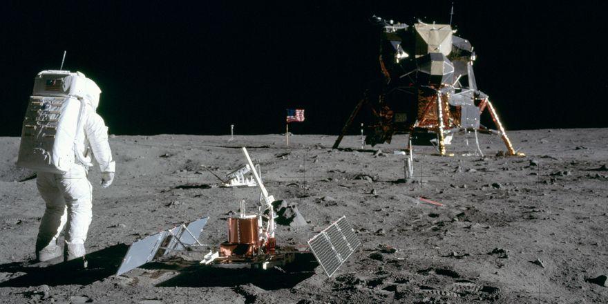 První návštěva Měsíce, foto: NASA, Public Domain