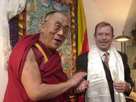 Dalai-Lama con Vaclav Havel, foto: CTK