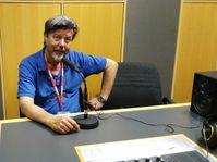 Enrique D. Zattara en Radoio Praga, foto: Enrique Molina
