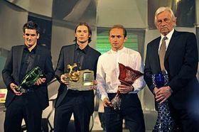 De izquierda:  Martin Fenin, Marek Jankulovski, Pavel Verbíř y Karel Brückner (Foto: CTK)