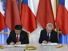 Miloš Zeman y Xi Jinping, foto: ČTK