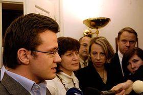 Ondřej Liška (a la izquierda) Foto: CTK