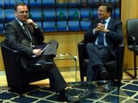 Petr Nečas y Jose Manuel Barroso, photo: ČTK