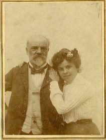 Antonín Dvořák mit seiner Tochter Magda