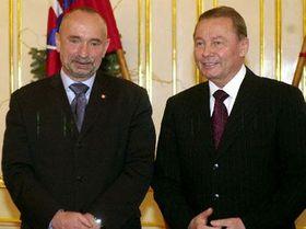Вице-премьер Петр Мареш и словацкий президент Рудолф Шустер (Фото: ЧТК)