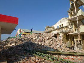 Ruinas tras el terremoto, foto: Marie Tesařová