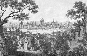 Prag im Jahre 1850