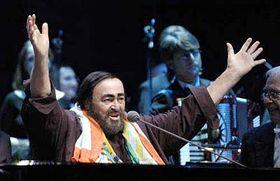 Luciano Pavarotti en Praga (Foto: CTK)