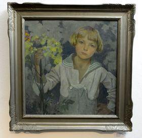 Portrét Jiřího od Alfonse Muchy, foto: ČTK