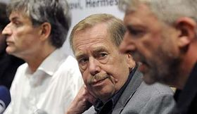 David Radok, Václav Havel, Ondřej Hrab, photo: CTK