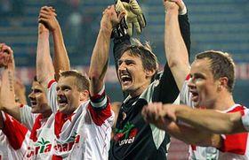 Alegría del equipo de Slavia (Foto: CTK)