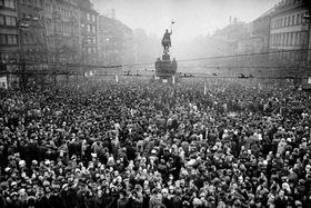 Un rassemblement à la mémoire de Jan Palach (1969), photo: Miloň Novotný