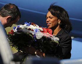 Condolleezza Riceová po příletu do Prahy, foto: ČTK