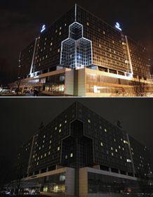 V Praze se připojil kHodině Země například hotel Hilton, foto: ČTK