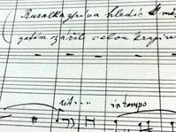 Manuscript of Rusalka, photo: Michaela Vetešková