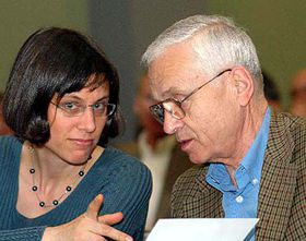 Barbara Masin and her father Josef, photo: CTK