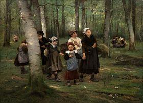 Václav Brožík, 'Les enfants à travers les bois', 1891, photo: Galerie Kodl
