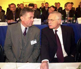 Mirek Topolánek y Václav Klaus, Foto: CTK