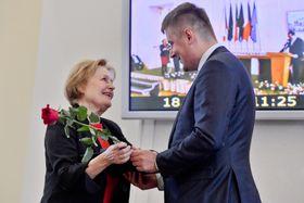 Magda Vášáryová, Tomáš Petříček, photo: ČTK/Vít Šimánek