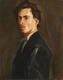Friedrich Feigl: Selbstbildnis (Foto: Archiv der Galerie der bildenden Künste in Cheb)