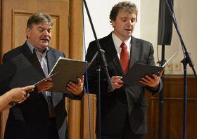 Вит Ракушан (справа), Фото: архив Художественной школы г. Либерец