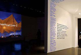 Video instalación sobre Freshlatino 2, foto: Instituto Cervantes de Praga